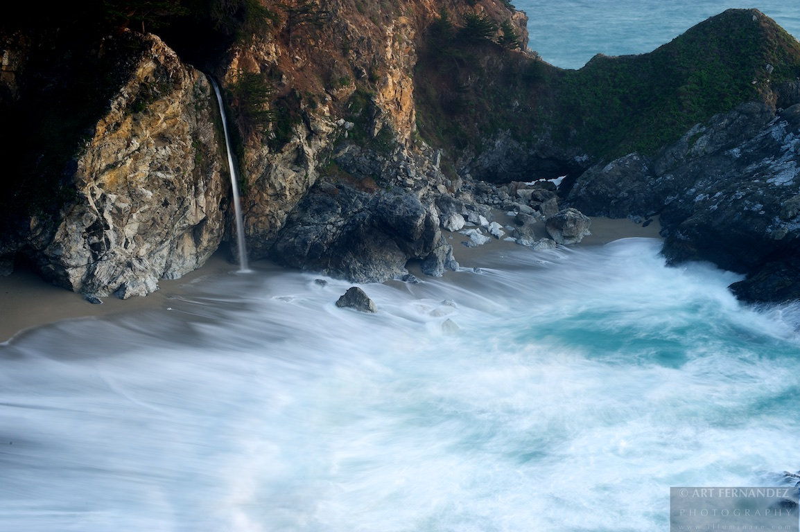 Tidal Motion and Falls, Julia Pfeiffer Burns State Park
